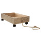 gray wood trolley, white