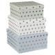 fyrkantiga lådor x3 silver, mångfärgad