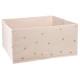 contenedor de almacenamiento x2 rosa corazón, rosa