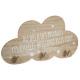 patere nuage etoiles x3, blanc