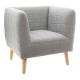 gray armchair, gray