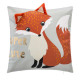 Pillow 40 x 40 fox, multicolored