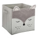 storage box fox velvet , gray