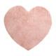 tappeto cuore rosa, rosa
