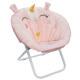 unicorn folding fabric armchair, light pink
