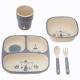 lunch set compart. 5 pcs blue, medium blue