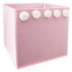 cofre de almacenamiento pompón x 5 rosa, rosa
