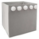 storage chest pompom x 5 gray, gray