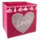 bin storage seq + pom love, light pink