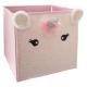 unicorn storage bin, pink