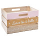 pink new style crate, multicolored