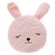 Pillow round fur rabbit, multicolored