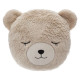 Pillow round fur bear, multicolored