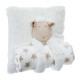 Pillow + plaid sheep, white