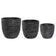 black streak pots max h41 x3, black