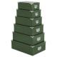 boite coins metal x6 uni v sauge, vert foncé