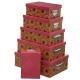 x6 wax box, 2- times assorted , multicolored
