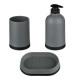 vuile badkamer accessoire x3 polypropyleen grijs,