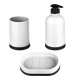 Accesorio de baño sucio x3 polipropileno blanco, b