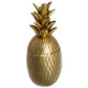 pineapple gold box resin living, gold