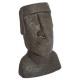 standbeeld Easter Island resin h26, bruin