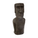 Easter Island statue h58 resin, brown