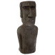 statue Easter Island resin h80, brown