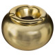 gold, gold ceramic ashtray