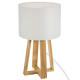 Lámpara de pie de madera blanca H35, blanca