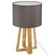 Lámpara de pie de madera gris H35, gris claro