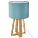 Lámpara de pie azul madera h35 azul, azul
