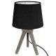 trep mini wood lamp black h31, black