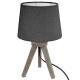 Lámpara trepador de madera mini gris h31, gris osc