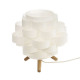 bambopapier trep h22 lampe, weiß
