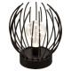 lampara metalica alambre microled h17,5, negro