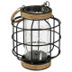 lantern metal fil microled h17,5, noir