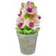 bougie pot orchidee 170g, 2-fois assorti, multicol