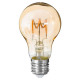 amber twisted led bulb a60 4w, transparent