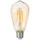 led lamp amber st64 4w, transparant