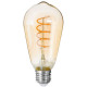 led bulb ambr st64 4w, transparent