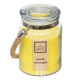 candle scented glass citr rope 500g, transparent