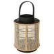 bamboe lantaarn h22 wax, kleurloos