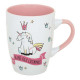 tapered mug fairy unicorn 30cl, 4- times assorted