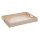 Bandeja de madera mandala 40x28cm, blanca.