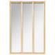 Espejo de taller de madera 76x116, marrón.