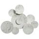 ronde metalen wanddecoratie 75x61, zilver