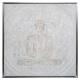 Lienzo pei / sil / cad Buddha 7878, plata