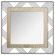 espejo cuadrado metal / madera joe 45, negro