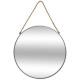 Espejo redondo de metal cuerda gr d55 gris