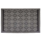 mandala plastic rug 120x180, black